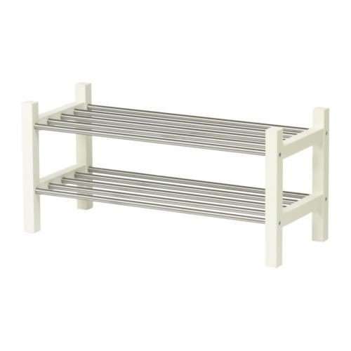 IKEA TJUSIG Schuhaufbewahrung in weiß; stabelbar