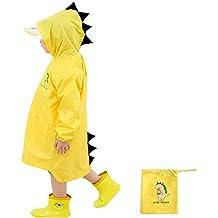 Enbihouse Kids Chubasquero Chaqueta Impermeable para niños Impermeable Rain Poncho Lluvia Rain Wear Cute Unisex Storm