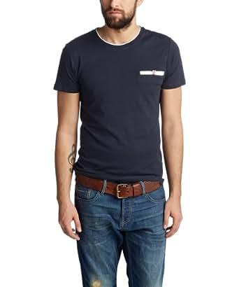 ESPRIT - Rundhals, 2in1 - Slim Fit 034EE2K013 T-Shirt Homme - Bleu (DARK NIGHT BLUE) - FR : XXX-Large (Taille fabricant : XXX-Large)