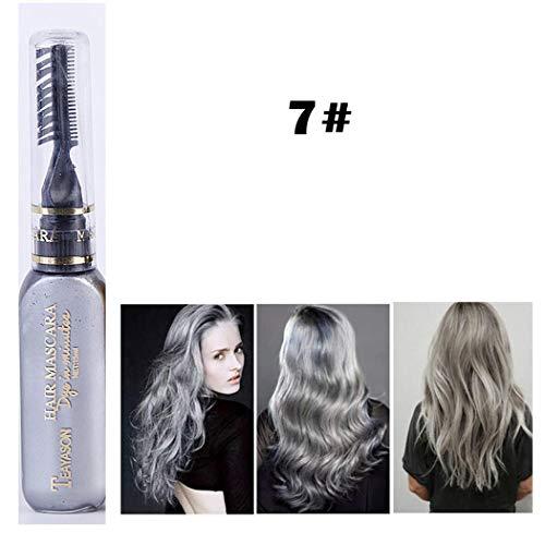 Yukio BeautyBox - Ein Weg Temporär Profi 30g Haarwachs Haarfärbemittel bunt Männer und Frauen, Mit feinen Kamm, Schlamm Friseur Creme Styling Wachs - Natürliches Finish