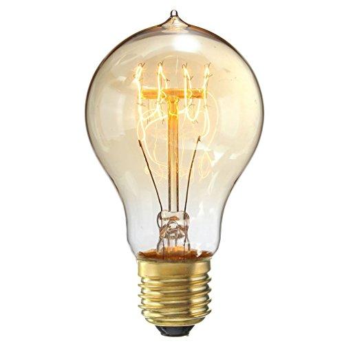 EDISON Glühbirne, homree 200V-Leuchtmittel mit Medium Basis (E27/E26) Nostalgische Edison-Stil, antik Leuchtmittel