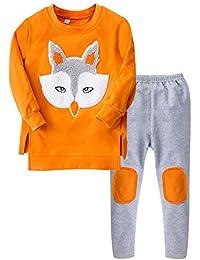 M&A Niñas Conjunto Traje Deportivo 2 pics Sudadero Camiseta Top+Pantalones Leggins Largos Manga Larga Para Otoño Primavera 2017