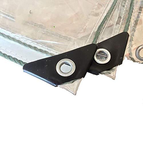 Espese el resistente y versátil poncho de lona de PVC transparente con perforado de doble capa borde reforzado destripador protector solar a prueba de viento aislamiento solar balcón ventana aislamien