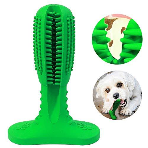Vivi Bear Hunde Brushing Stick Hund Zahnbürstenstift Lebensmittel-Grade Hund Chew Toys Pfefferminz-Scent Bürstenstab Interaktives Spielzeug Kauen Zähne Putzen Spielzeug für Hunde Hundezähne Reinigen -