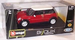 burago red and white mini cooper car 1.24 scale diecast model by burago (English Manual)