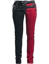Vixxsin Asylem Pantalones Mujer negro/rojo