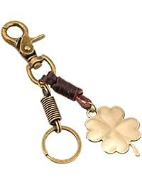 hsy Porte-clés de Voiture, trèfle à Quatre Feuilles Porte-clés personnalité  Unisexe Mode Pendentif chaîne de clé… 9300de751dc