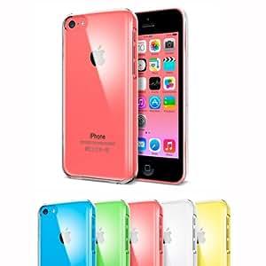 iBroz® - iPhone 5C - iCase Coque étui silicone premium iPhone 5C ultra fine Ultra Clear - 0.4mm (semi rigide - chocs absorption) - Transparent