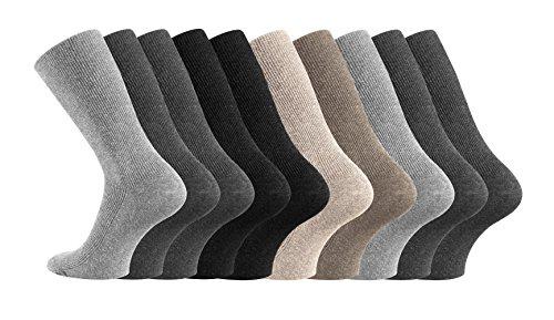 10-paar-gesundheitssocken-baumwolle-ohne-gummidruck-fur-damen-und-herren-farbig-grosse-43-46