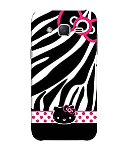 Fuson Designer Back Case Cover for Samsung J1 Mini Prime :: Samsung Galaxy J1 Mini Prime (Kitty Cat Polka Dots Girls Bow)
