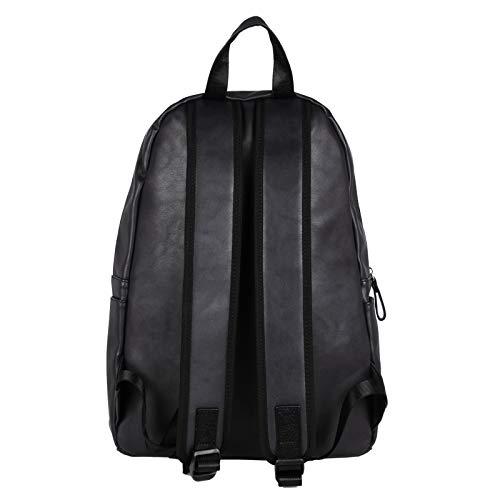 Best mens leather backpack in India 2020 Fur Jaden Black Artificial Leather Laptop Backpack Bag for Men Image 4