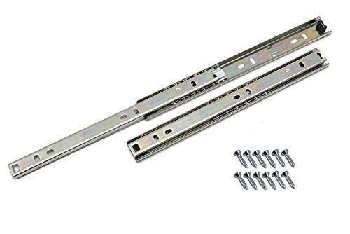Lot de 1 Coulisse de tiroir rails télescopiques tiroir montage latéral L- 450mm