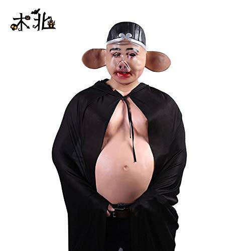 King Kostüm Monkey - Her cat Die Monkey King Halloween Kostüme lustiger Kopf, Schwein acht beenden Maske, freie Größe