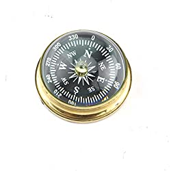 Brass Marine Desktop Compass Desk Paperweight Nautical Maritime