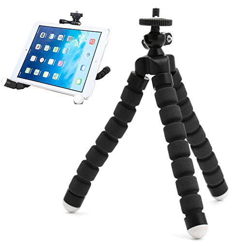 Handyhalter Dairyshop Flexible Mini Tripod, Octopus Style Compact Portable and Adjustable Tripod Stand with Mount Holder for Smartphone, Camera, Webcam, Mobile Cell Phone -Schwarz (Wickeln Universal Beine)