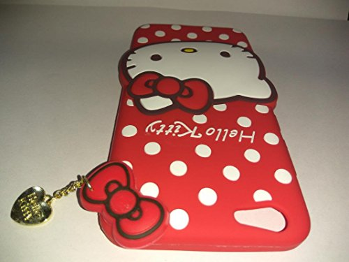 official photos 8148f e9e8a Dream2Cool Hello Kitty Soft Silicone with Pendant Back Cover for Oppo A71 -  Red