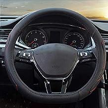 ZXPT Cubierta del Volante Antideslizante En Forma De D para Citroen C4 Passat B8 VW Golf