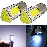 P21W Bombillas LED 12V BA15S 1156 S25 Luz de Coche Luz de Luz de Luz de Luz de Luz de Luz de Luz Lateral Luz de Giro de Luz de Luz de Luz de Luz de Luz de Luz de Luz de Cob 4 LED Blanco Puro