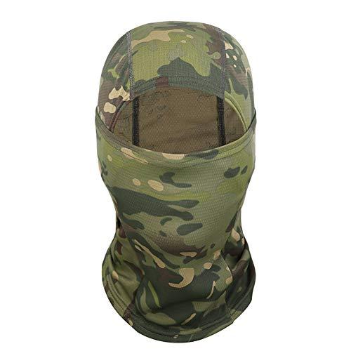 Qnlly New Riding Camouflage Ninja Hood Anti-Terror-Maske Outdoor-Reitmaske MC Camouflage Mask Sanddichtes Kopftuch,01