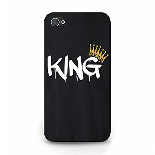 Lovers Boyfriend Girlfriend Couple Phone Hard Case Cover for Iphone 4/4s King Queen Couples PC Cover Case Color075d