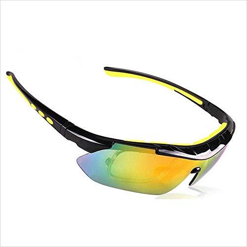 BJYG Sport Sonnenbrillen Outdoor Sport Sonnenbrillen Mit Myopie Rahmen 5 Stücke Austauschbare Polarisierte Linse Radfahren Mountainbike Fahren Reise Für Männlich Weiblich Universal Outdoor Angeln