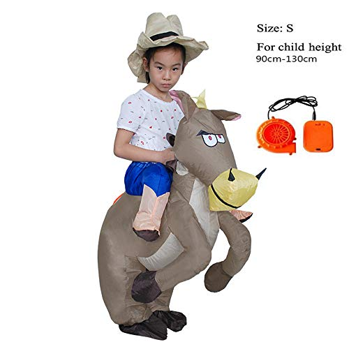 SHUFEI Blow Up Kostüm, Halloween REIT Kostüme, T-Rex Kinder Piggyback Kostüm, Reiten Zeug Beine Bären Kostüm Lustige Party Kleid Animal Cosply,S (Party Halloween Zeug)