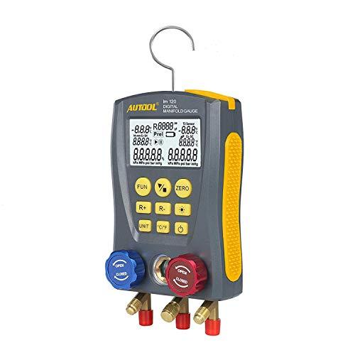 BELEY AUTOOL Medidor de colector Digital HVAC para refrigeración, Integrado, 89 Tipos...