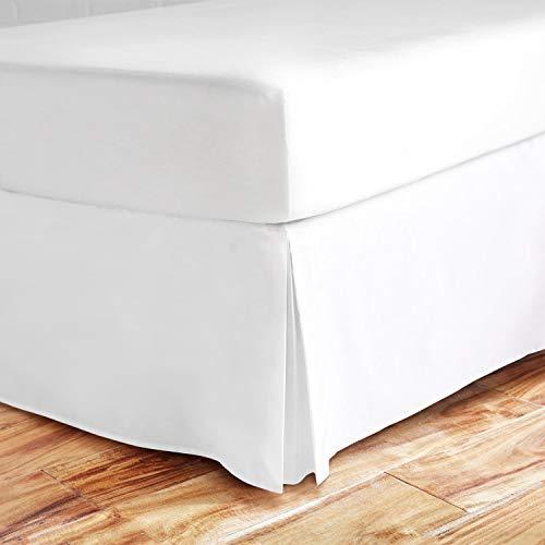 Valencia Beddings Eck-Bettrock, 25,4 cm lang, RV-Größe, 100% natürliche Baumwolle, Knitter- und lichtbeständig, Wohnmobil-Größe, Weiß Queen 60'' x 80'' White Solid (White Queen-size-betten)