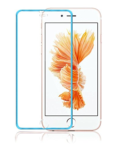 Wandregal Josi Minea [iPhone 6/6S] Tempered Glas Ballistic LCD Displayschutzfolie Full Cover Screen Guard Film Premium HD Schild für Apple iPhone 6/6S (11,9cm), Blau Lcd Screen Guard Protector