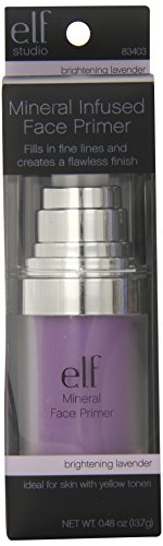 e.l.f. Studio Mineral Infused Face Primer, Brightening Lavender, 0.49 Ounce