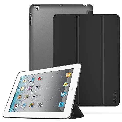 Fintie Hülle für iPad 2/3 / 4 - Ultradünne Superleicht Schutzhülle mit transparenter Rückseite Abdeckung Cover mit Auto Schlaf/Wach Funktion für iPad 4 / iPad 3 / iPad 2 Retina, Schwarz