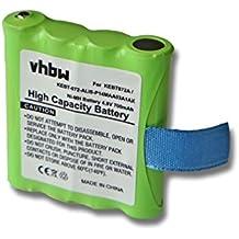 vhbw Baterías NiMH 700mAh (4.8V) para dispositivos de radio Motorola TLKR T3, T4, T5, T6, T7, T8, T50,... reemplaza IXNN4002B, LIS-P14MAA03A1AX.
