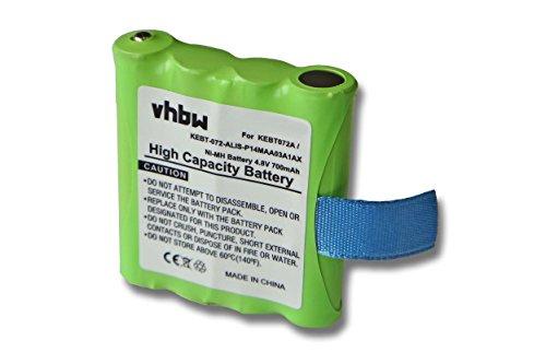 vhbw NiMH Batteria 700mAh (4.8V) per Radio Walkie Talkie Motorola TLKR T3, T4, T5, T6, T7, T8, T50, T60, T61, T80 come IXNN4002B, LIS-P14MAA03A1AX.