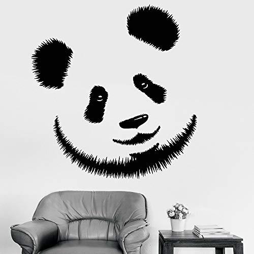 guijiumai Vinile Adesivo Panda Testa Orso Zoo Animali Adesivi Murali Camera dei Bambini Decor Sticker Carino Decorazione della casa Murale Decalcomanie Rosso 85x97 cm