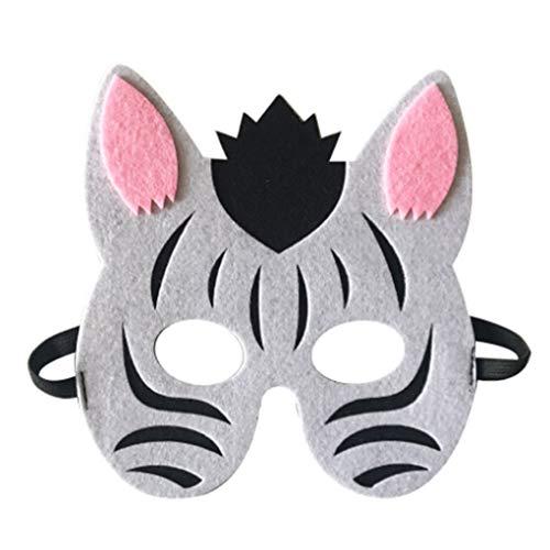 Zerama Cartoon Tiere Half Face Kinder Maske Kindertagesgeburtstag verkleiden Kostüm Maske Zoo Jungle Party Supplies