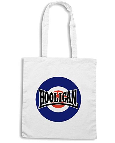 T-Shirtshock - Borsa Shopping OLDENG00111 hooligan mod Bianco