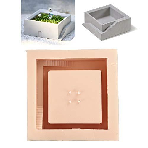MYAMIA Silicone Calcestruzzo Stampo Cemento Cubo Fai da Te Fiore Pot Stampi Giardino Piantatore Vaso Stampo