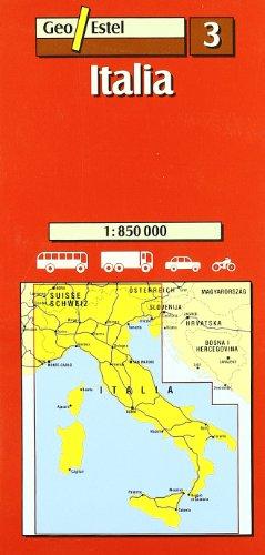 Italia Mapas carreteras. Comunidades autónomas regio