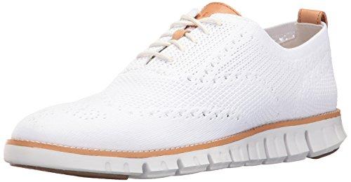 more photos 787f9 69fd9 Cole Haan Zerogrand Stitchlite Oxford, Zapatos de Cordones Hombre, Blanco  Knit Optic White