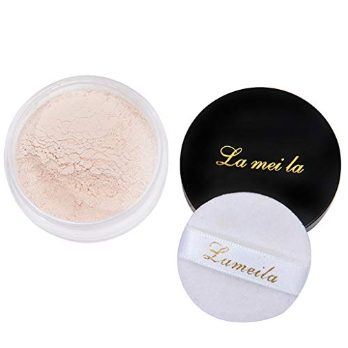 Kuygdvd-UK Mejor venta Polvo Suelto Polvo Facial Translúcido Ajuste Base Maquillaje Refrescante mineral Polvo suelto Control aceite A prueba de sudor (B)