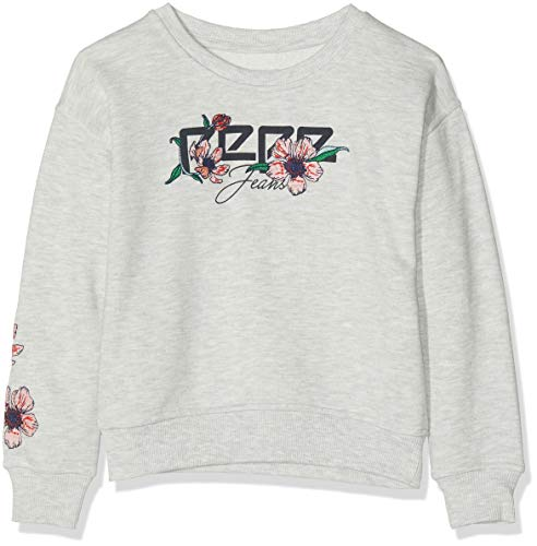 Pepe Jeans Belle PG580920 Sweat-Shirt, Gris (Grey Marl 933), 14-15 Ans (Taille Fabricant:164/14 Years) Fille