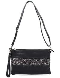 Gallantry-Sac à bandoulière femme / sac porté épaule / sac paillettes femme / Sac Strass / Pochette Bandoulière