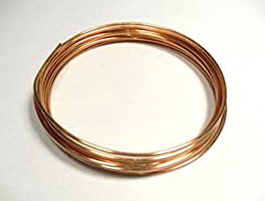 COPPER WIRE BARE UNCOATED UNPLATED 500grams - 8 gauge - 3.25mm diameter by SCINETIFIC WIRE COMPANY