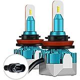 imoli H11 Kit de Bombillas de Faros LED - 6500K Blanco 5500LM 30W/bombilla,