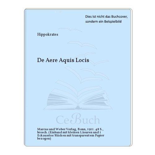 De Aere Aquis Locis