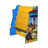 Paw Patrol Wooden Sling Bookshelf Storage Organiser - Everest, Chase, Marshall, Skye, Rocky, Zuma