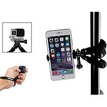 Fotopro Tripode Flexible, Mini Tripode Soporte para Móvil con Control Remoto Bluetooth para iPhone, Samsung y Otro Smartphone Teléfonos Inteligentes, Gopro(negro)