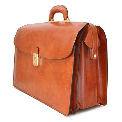 Pratesi Leonardo Italian Leather Laptoptasche braun