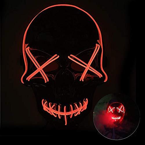 Einfache Halloween Kostüm Ideen Für Teenager Mädchen - Queta Halloween Maske LED Masken