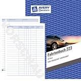 Sparpack Avery Zweckform 223 Fahrtenbuch, DIN A5 hoch, steuerlicher km-Nachweis, 40 Blatt, weiß (A5, Softcover)